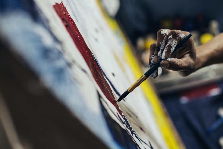 Layering Brushstrokes On Canvas